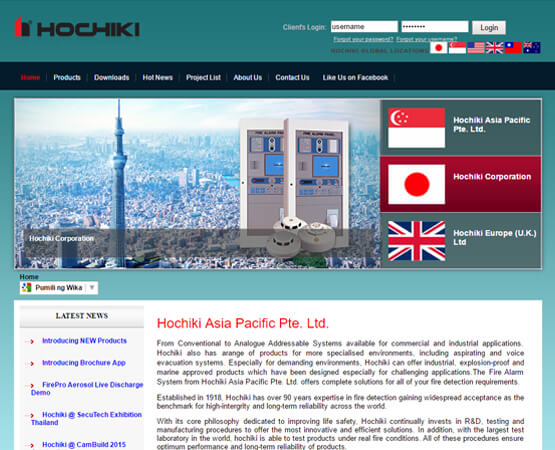 website-design-Hochiki-Before